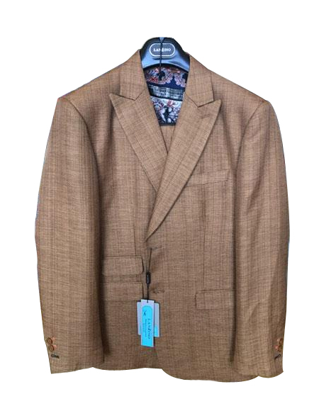 Mens Linen Cotton Summer Fabric Two Buttons Peak lapel Suit, act now only $199.00
