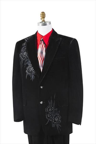 Mens Liquid Jet Black 2 Button Style Tuxedo, act now only $175.00