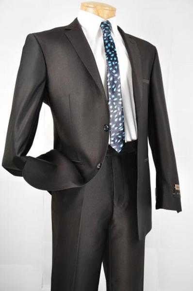 Mens Liquid Jet Black Single Breasted 2 Button Style Slim narrow Style Fit Suit, act now only $125.00