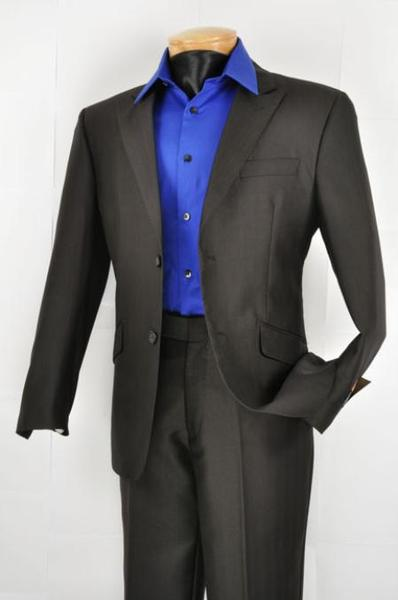 Mens Liquid Jet Black Two Button Style, act now only $139.00
