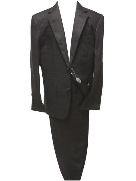 Mens Liquid Jet Black Two Button Style Single Breasted Linen Suit, act now only $139.00