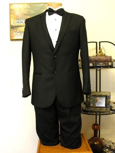 Mens Liquid Jet Black Two Button Style Suit, act now only $199.00