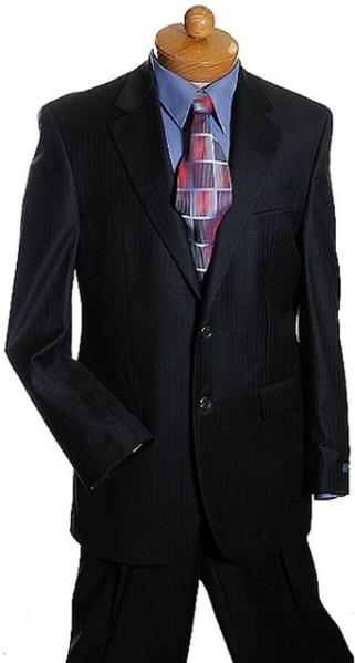 Mens Liquid Jet Black Two Button Style Suit, act now only $149.00