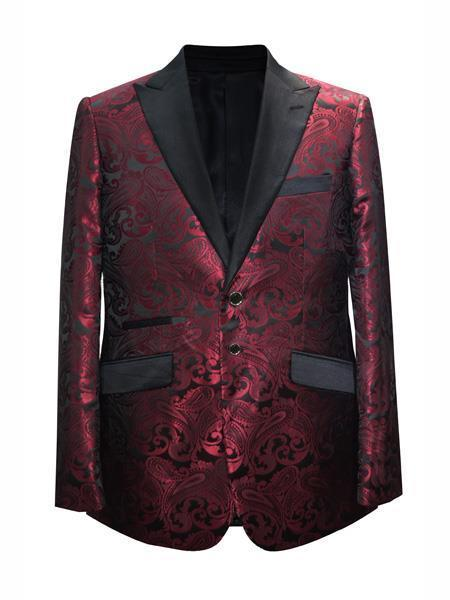 Mens Maroon Wine Two Button Style Suit, act now only $175.00