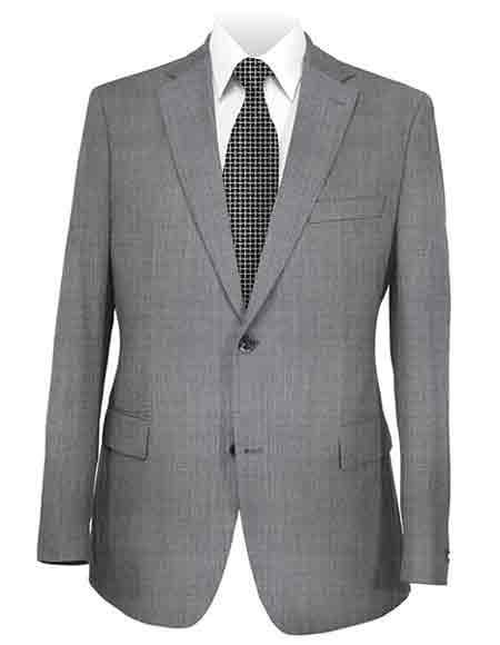 Mens Medium Grey Two Button Style Suit, act now only $225.00