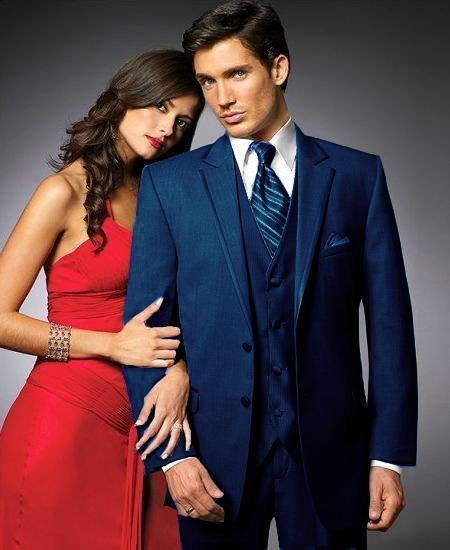 Mens Midnight blue Two Button Stage Party Tuxedo, act now only $240.00