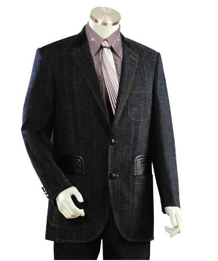 Mens Midnight Blue Two Button Style Suit, act now only $199.00