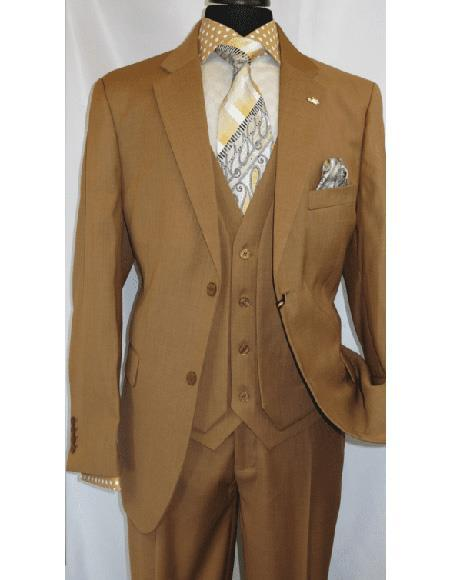Mens Mustard Two Button Style Suit, act now only $185.00
