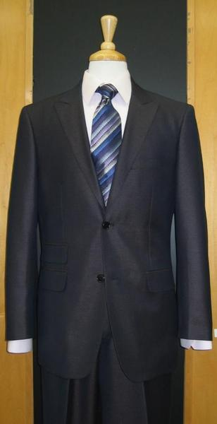 Mens Navy Two Button Style Erodesent Flat Front Suit, act now only $169.00