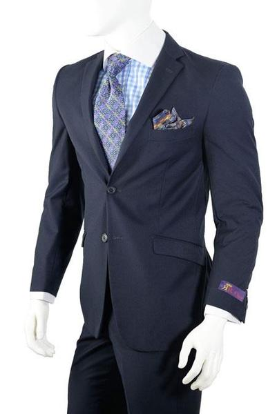 Mens Navy Two Button Style Slim Fit Suit, act now only $79.00