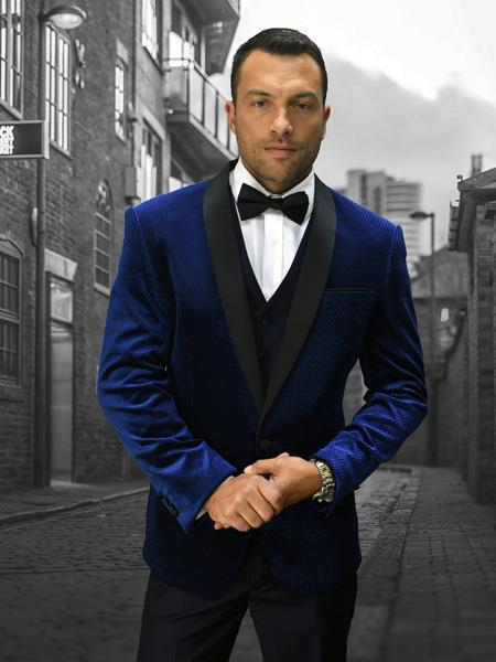Mens Navy Two Button Style Suit, act now only $250.00