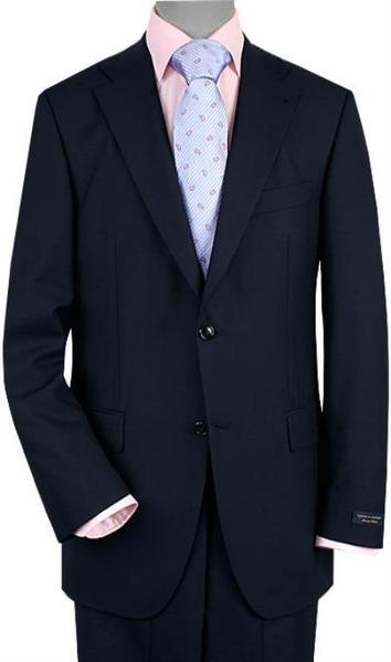 Mens Navy Two Button Style Vented Suit, act now only $199.00