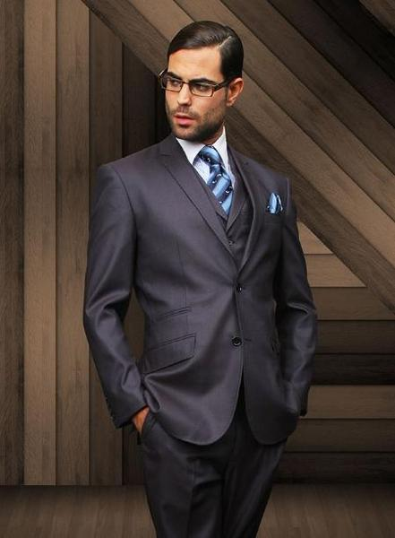 Mens Navy Two Button Style Vested Suit, act now only $155.00