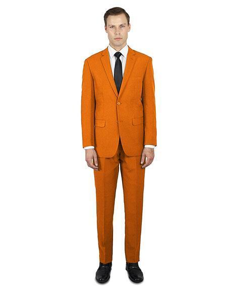 Mens Orange Festive Alberto Nardoni Best Stylish Young Suit, act now only $139.00