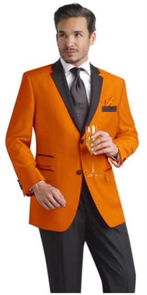 Mens Orange Two Button Notch Party Suit, act now only $495.00