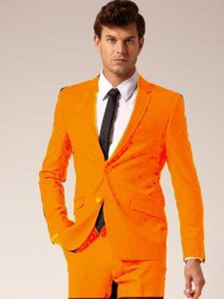 Mens Orange Two Button Style Notch Lapel SUit, act now only $139.00