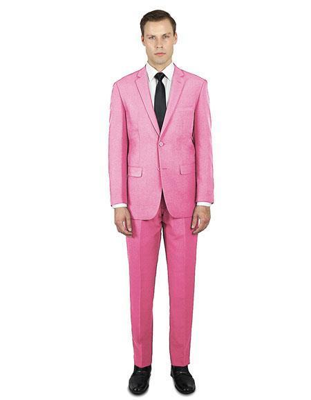 Mens Pink Festive Alberto Nardoni Best Stylish Young Online Suit, act now only $139.00