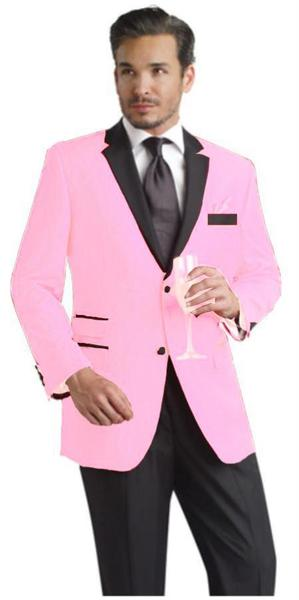 Mens Pink Two Button Notch Party Suit & Tuxedo, act now only $595.00