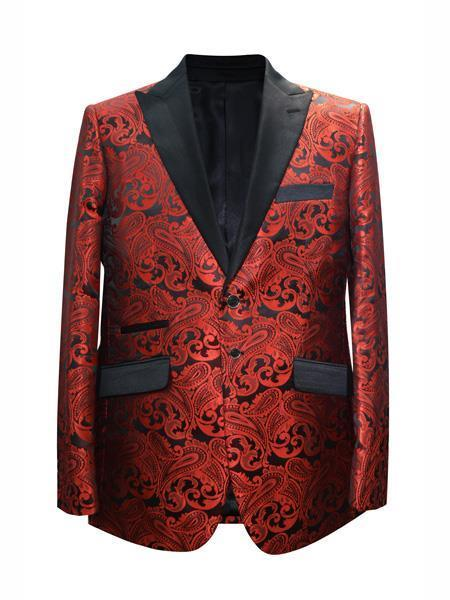 Mens Red Alberto Nardoni Two Button Style Suit, act now only $175.00