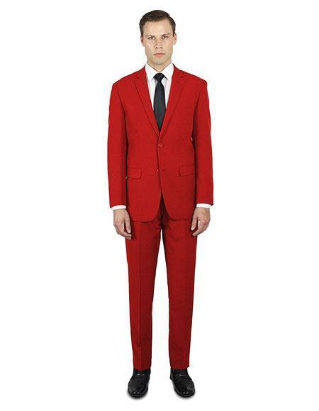 Mens Red Festive Alberto Nardoni Best Stylish Young Online Suit, act now only $139.00