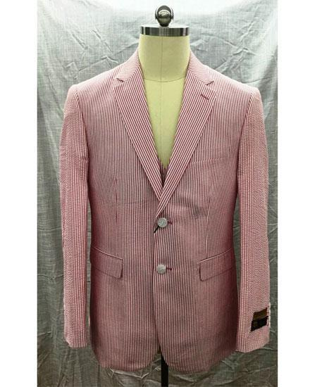 Mens Red Single Breasted Two Button Style Suit, act now only $175.00