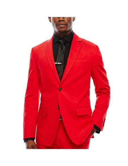 Mens Red Velvet Two Button Style Alberto Nardoni Suit, act now only $250.00