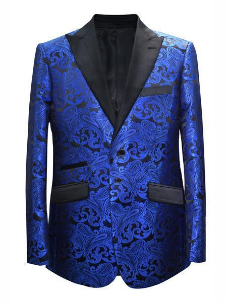 Mens Royal Blue Alberto NArdoni Two Button Style Suit, act now only $175.00
