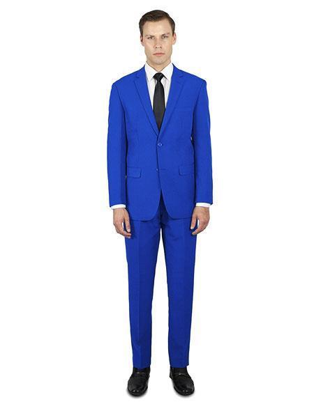 Mens Royal Blue Festive Alberto Nardoni Best Stylish Young Online Suit, act now only $139.00