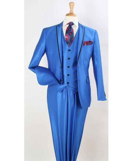 Mens Royal Blue Two Button Style Lapel Suit, act now only $199.00