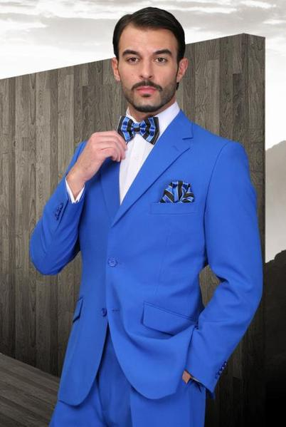 Mens Royal Blue Two Button Style Pastel Suit, act now only $89.00