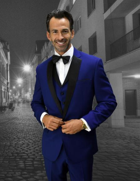 Mens Sapphire Two Button Style Modern Fit Tuxedo, act now only $189.00