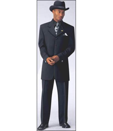 Mens Sharp Black Four Button style Fashion Suit, act now only $149.00