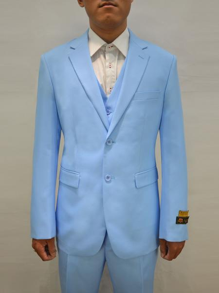Mens Sky Blue Two Button Style Suit, act now only $199.00
