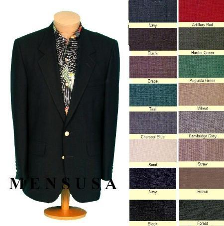 Mens Solid Black Metal Button Style Suit, act now only $149.00