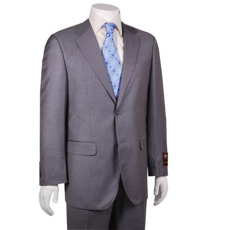 Mens Solid Grey 2-button Suit, act now only $149.00