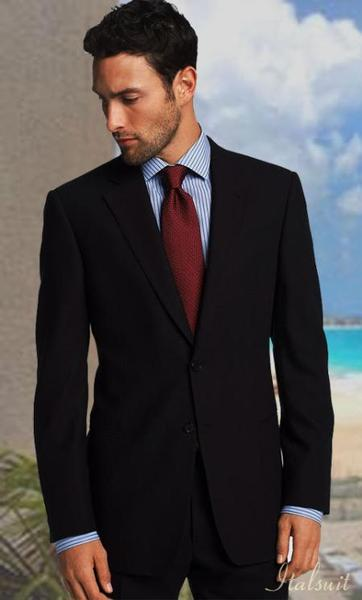 Mens Solid Navy Two Button Style Suit, act now only $189.00