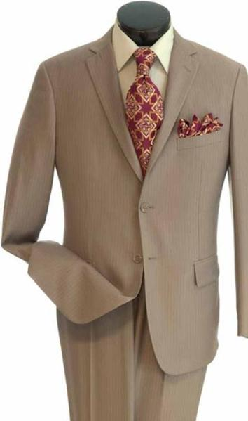 Mens Stone Two Button Style Popular Tone Suit, act now only $139.00