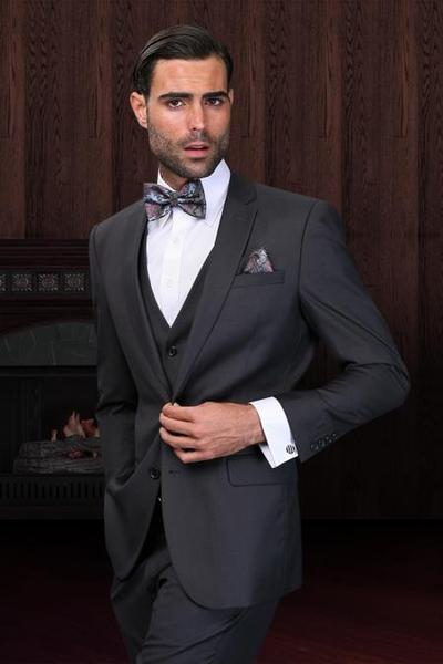 Mens Superior Fabric 150's Wool Fabric Dark Grey Suit, act now only $175.00