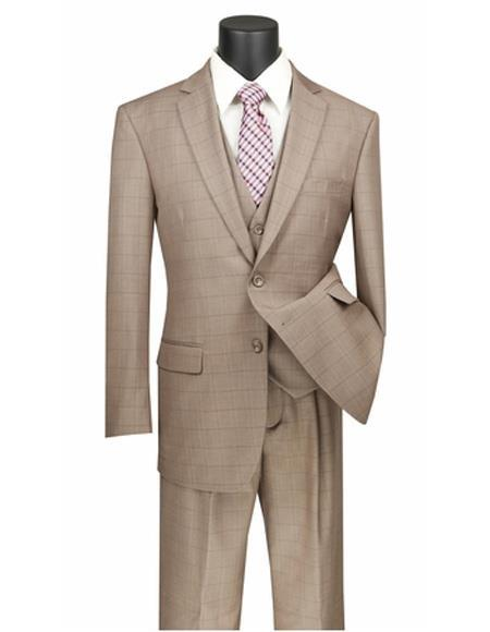 Mens Tan Two Button Style Suit, act now only $149.00