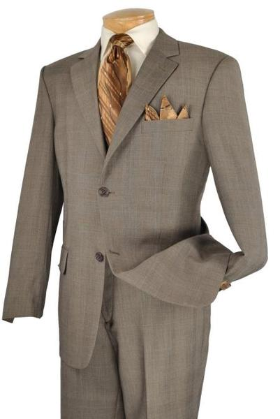 Mens Taupe 2 Piece 2 Button Style Suit, act now only $149.00