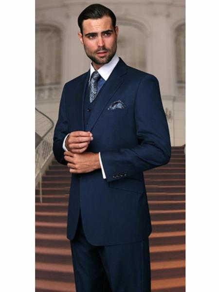 Mens Teal Blue Two Button Style Light Weight Suit, act now only $250.00