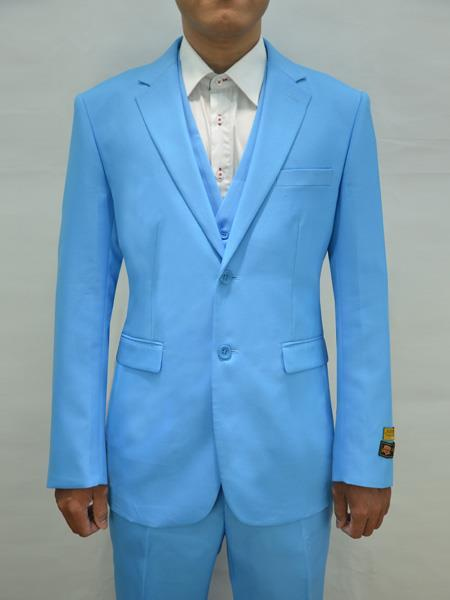 Mens Turquoise Two Button Style Suit, act now only $199.00