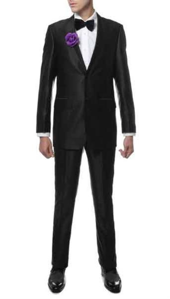 Mens Two Button Black Suit, act now only $129.00