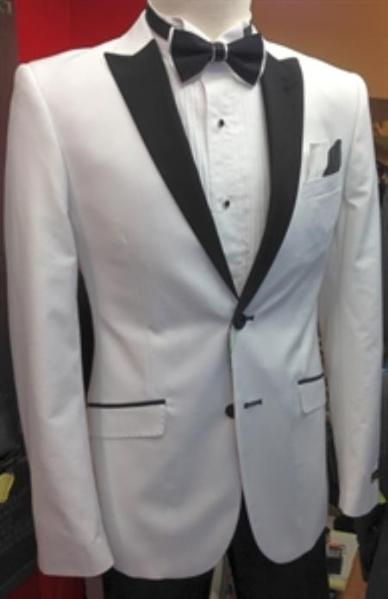Mens Two Button Blue Liquid White Suit, act now only $175.00
