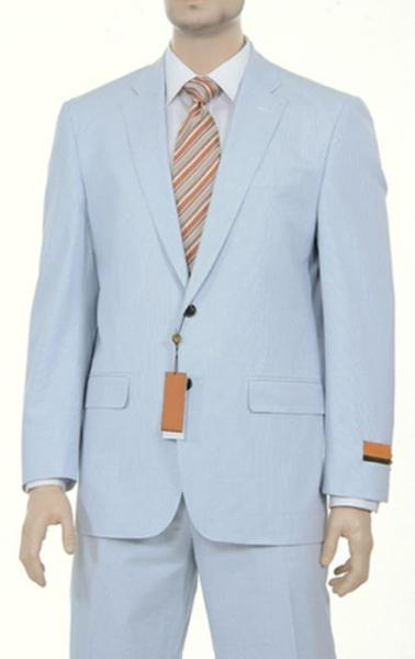 Mens Two Button Blue Suit, act now only $175.00