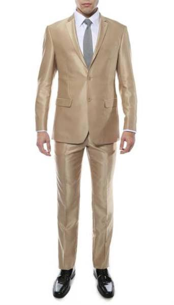 Mens Two Button Champagne Suit, act now only $219.00