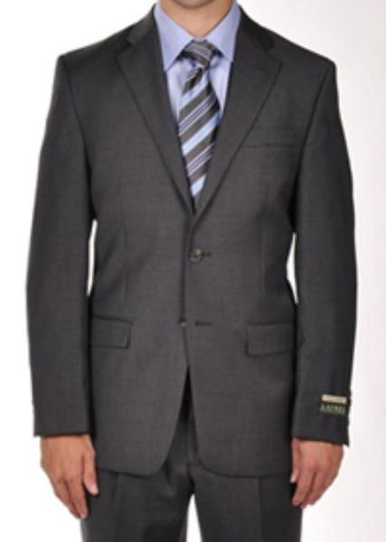 Mens Two Button Dark Grey Masculine color Dress Suit, act now only $275.00