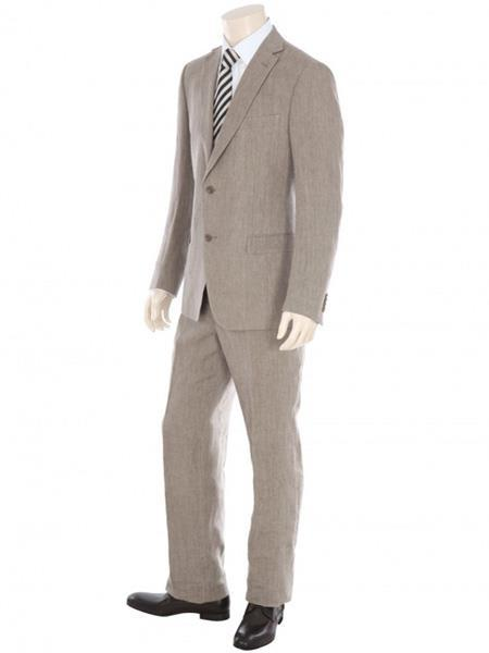 Mens Two Button Dark Tan Suit, act now only $199.00