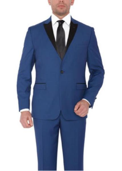 Mens Two Button Indigo lapel Suit, act now only $170.00
