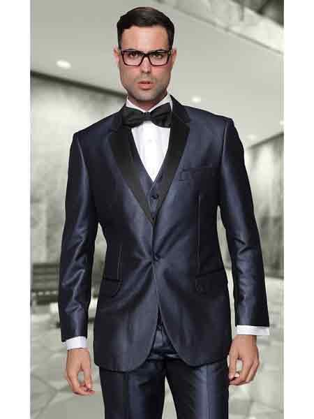 Mens Two Button Indigo Suit, act now only $210.00